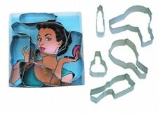 Diva Set Boxed Gift Set Cookie Cutters 5 pc. Girl Women Spa Pamper mom