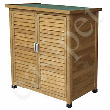 Wooden Garden Shed Tool Storage Lawn Mower Outdoor Store Cupboard Wood Cabinet