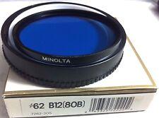 Genuine Minolta 62mm B12 Blue Color Lens Glass Filter Japan Origianl 62 mm 80B