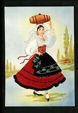 Embroidered clothing postcard Artist Gumier Italy woman costumes Lucania