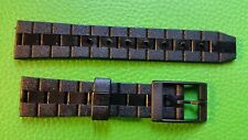 BRACELET MONTRE  /// watch bands /  PVC    MARQUE KIPLE 16MM NOIR  / JR133