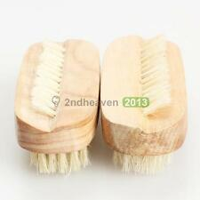 2PCS Nail Art Trimming Brush Wooden Manicure Files Cleaning Scrubbing Tool  BEST