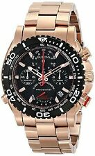 New Bulova 98B213 Precisionist Chronograph Rose Gold Tone Men's Watch