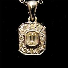18ct White Gold & Diamond Pendant and Chain TDW 0.6ct Quality Vintage Item