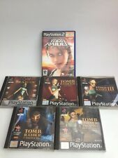 Tomb Raider PS1 / Ps2 Bundle 1 2 3 4 5 chronicles revelation - Free Uk Pp