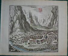 Bild von GLARUS Glaris  KUPFERSTICH große ANSICHT Merian  von 1655 dekorativ