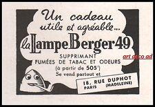 Publicité  Lampe Berger  vintage print ad  1941 -10i