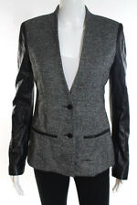 CO OP Barneys New York Multi-Color Speckled Leather Sleeve Jacket Size 2