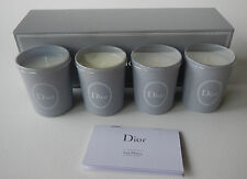 DIOR Scented Candle Set, 4 pieces with box (Lily, Rose, Iris & Jasmine)