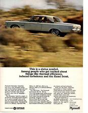 1965 PLYMOUTH BELVEDERE SATELLITE 426 WEDGE-HEAD ~ ORIGINAL MUSCLE CAR AD