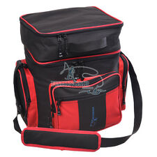 Outdoor Fishing Tackle Bag Waist Pack Black Red Tools Portable Storage Backpack