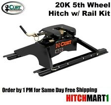 20K CURT Q20 5TH FIFTH WHEEL TRAILER HITCH with UNIVERSAL RAILS #16131