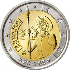 "Spain 2 euro coin 2005 ""Don Quixote of La Mancha"" UNC"