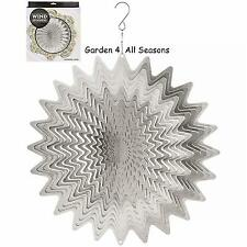 "12""/30cm SILVER WHIRL Stainless Steel Wind Spinner Sun Catcher Hook Garden Gift"