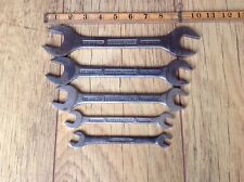 "5 Vintage Gordon Tools Spanners 5/8""W to 1/8""Whitworth."