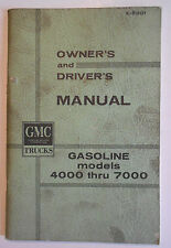 1964 Original General Motors GMC Gasoline models 4000 & 7000 Owner's Manual