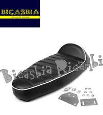 8906 SELLA SELLONE NERO NERA BIANCO BIANCA FASTBACK VESPA 50 125 PK S XL N RUSH