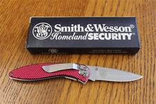 Smith & Wesson CK107RD Cuttin Horse Homeland Security Folding Knife Red Handles