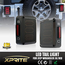 Xprite G3 LED Tail Light Black with smoke Lens For 07-17 Jeep Wrangler JK JKU