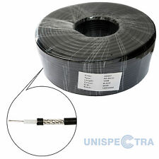 100m RG58 C/U Mil Spec 50 OHM COAX CABLE Low Loss and Very High Quality