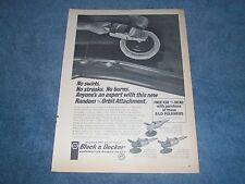 "1968 Black & Decker Electric Polisher Ad ""No Swirls, No Streaks, No Burns"""