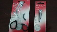 LOT 2 New Revlon Stainless Steel Eyelash Curler and Compact Nail Clipper File