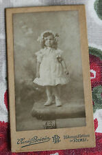 Photographie ancienne Portrait fillette élégante mode bonnet photo Boivin Paris