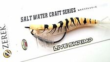 Zerek Live Shrimp Prawn Soft Rubber Lure Seabass Jack 127mm 15.5g Col 12