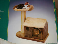 Penn Plax CatF2 Cat Life Cottage W/ Lounging Tower & Scratching Post Furniture