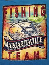 VINTAGE MARGARITAVILLE FISHING TEAM BLUE T SHIRT SMALL