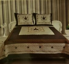Texas Western Star 3 piece Bed Spread set 110 x 96 oversize King  popular!