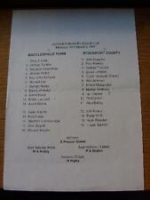 19/02/2001 Macclesfield Town Reserves v Stockport County Reserves [Avon Insuranc