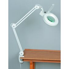 NEW! FLUORESCENT MAGNIFYING GLASS SWING ARM LAMP 3 Diopter Glass Lens Hands Free