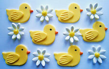 36 duck and daisy SUGAR FLOWERS baby shower/ birthday cake toppers