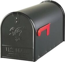 NEW SOLAR E1600B00 BLACK HEAVY DUTY METAL LARGE RURAL MAILBOX 0143362 SALE