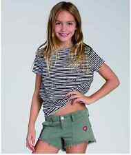 2015 NWT YOUTH GIRLS BILLABONG PEACE PATCH SHORTS $45 10 seagrass utility style
