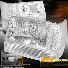 Jeep Grand Cherokee ZJ Laredo Chrome Headlights +  Corner + Parking Signal Light