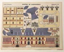 Pellerin Imagerie D'Epinal-No 224 Chateau de Chenonceaux G. vintage paper model