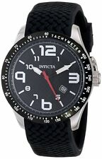 New Invicta Men's 16640 BLU Analog Quartz Black Rubber Tire Watch
