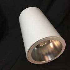 Ceiling Mount Canister Light Fixture CFL Vertical Cylinder Downlight White 6""
