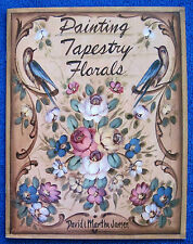 Painting Tapestry Florals Book David Martha Jansen Step-by-Step Folk Art -Unused