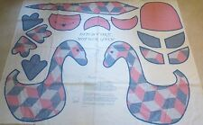 Fabric Panel to make a Cute Soft Sculpture Patchwork MOTHER GOOSE - -NEW