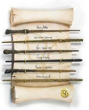 DISPLAY Muro SET 6 BACCHETTE ARMATA SILENTE Noble Collection HARRY POTTER Wands