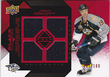08-09 Black Diamond Jason Arnott /100 RUBY Quad Jersey RC