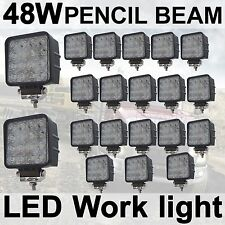 20X 48W LED Work Light Spot Pencil Driving Lamp 12V 24V off road Truck 4WD UTE