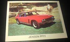 1972  JENSEN FF11  - WEETBIX AUSTRALIA Swap Card
