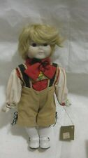 Rare Collectible Porcelain Doll 11in. Young Girl On Display Stand Dolls By Rene