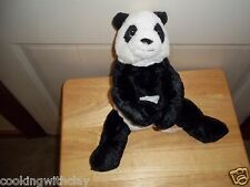 IKEA PLUSH DOLL FIGURE SWEDISH KRAMIG BLACK & WHITE PANDA BEAR TOY