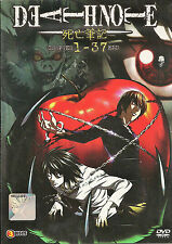 Death Note Complete Anime Series ( 37 Episodes ) DVD Box English Dubbed