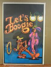 Vintage Let's Boogie 1972 blacklight poster 3529